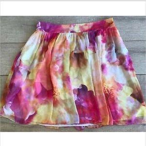 Liz Claiborne Women's Skirt Sheer Floral Lined